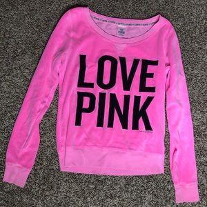PINK crew neck sweatshirt